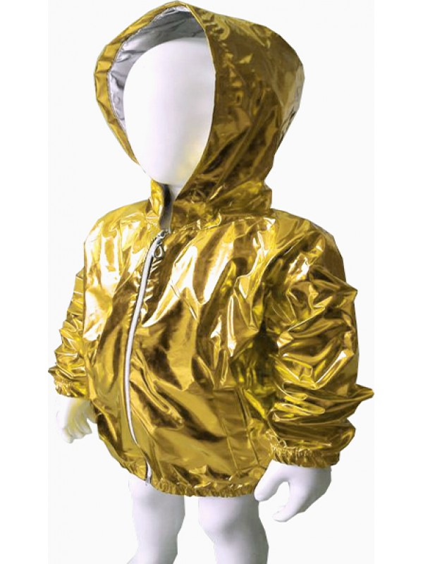 girls boys high quality raincoat fluorescent bright yellow 5 6 7 8 ages