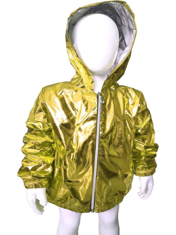 девочки мальчики качественный плащ флуоресцентный ярко-желтый 5 6 7 8 лет