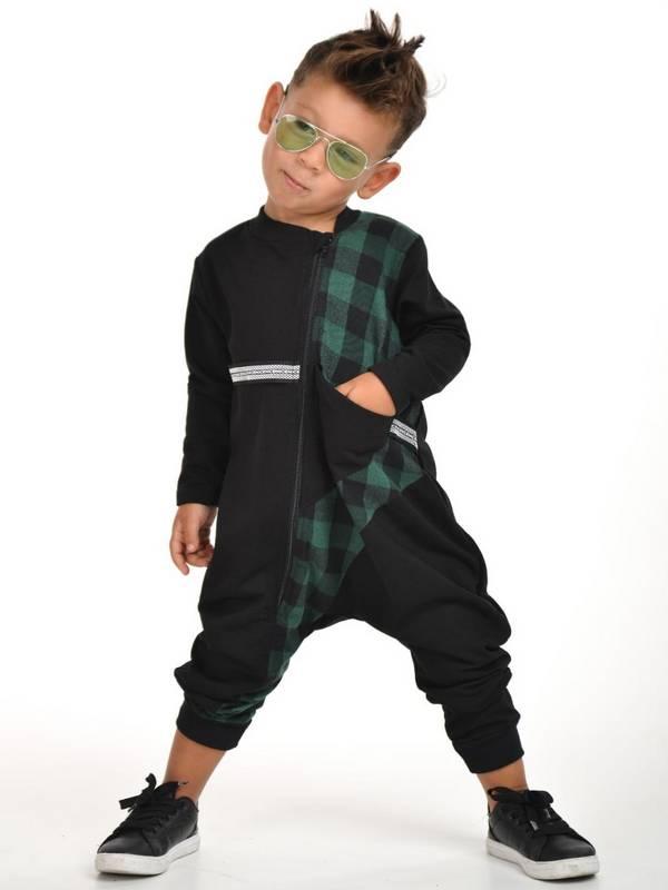 осенне-зимняя детская одежда для мальчиков оптом 2/8 лет зеленая
