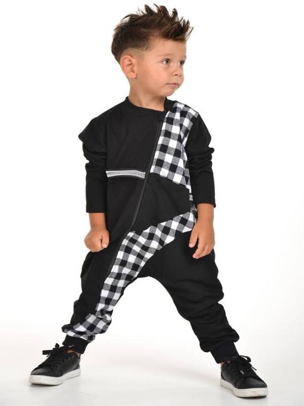 осенне-зимняя детская одежда для мальчиков оптом 2/8 лет черный белый