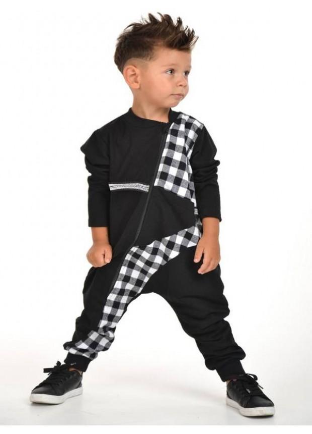 sonbahar kış çocuk erkek giyim toptan 2/8 yaş siyah beyaz