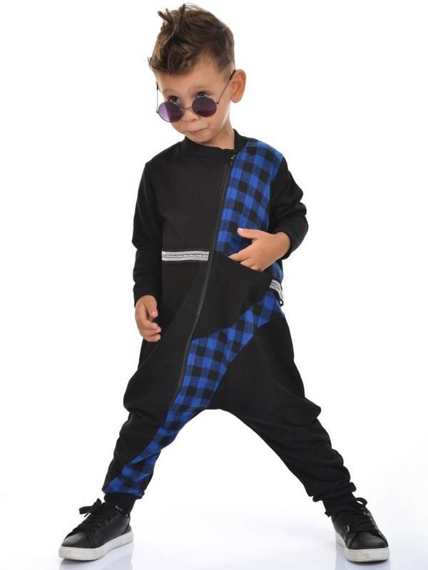 Осенне-зимняя детская одежда для мальчиков оптом 2/8 лет темно-синий
